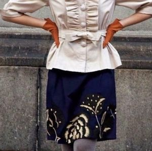 Anthropologie Floreat Sufi embroidered skirt